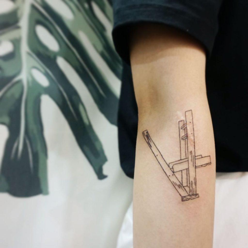 Billie Eilish  tattoo  - Fine Line style byeultattoo