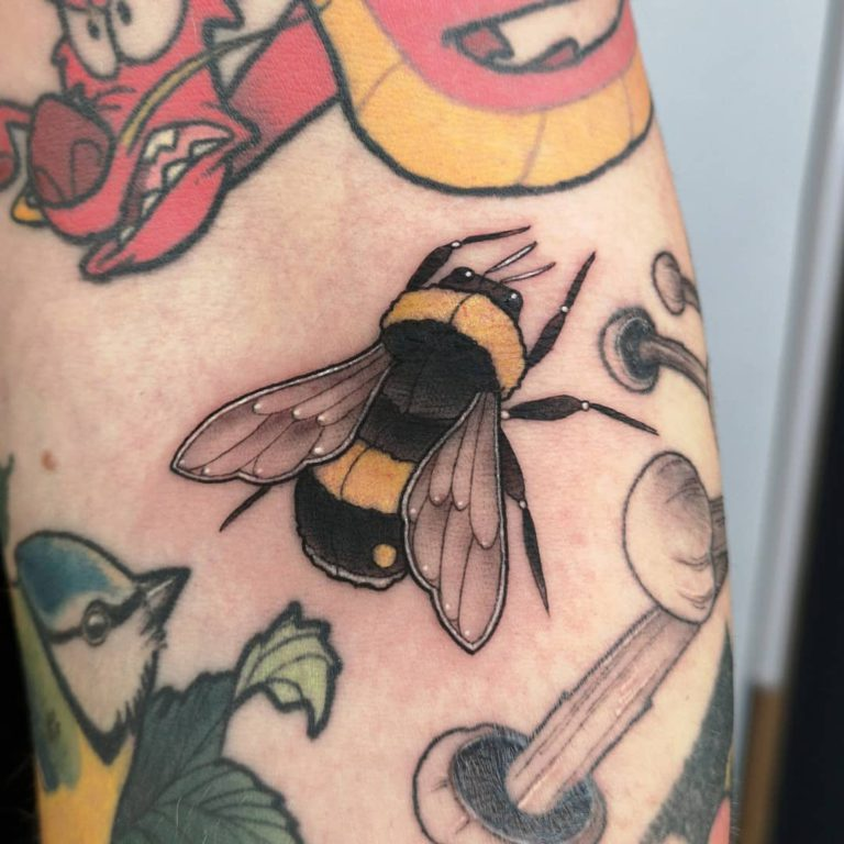 Bumblebee tattoo on  - Neo Traditional style by Constance Luce