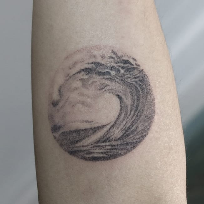 Wave tattoo on by ohoo