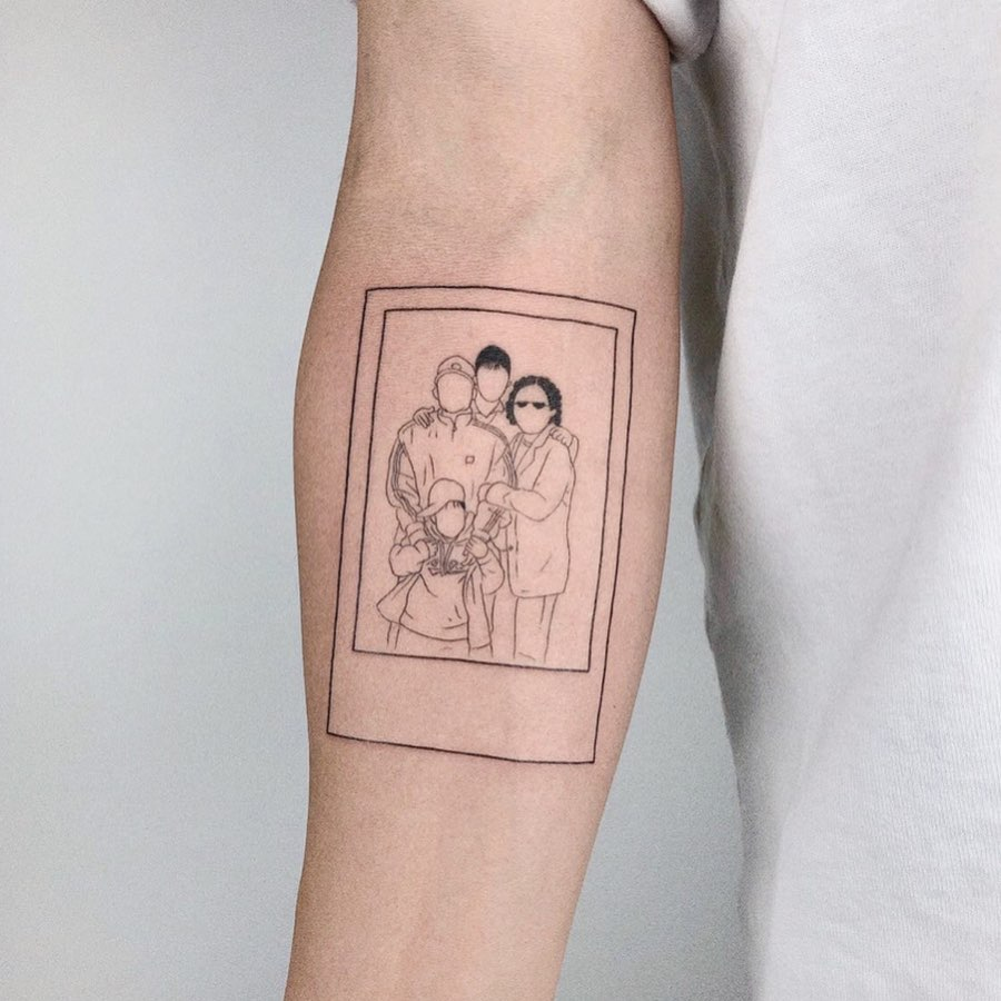 Family tattoo on Forearm (inner) by Shinji