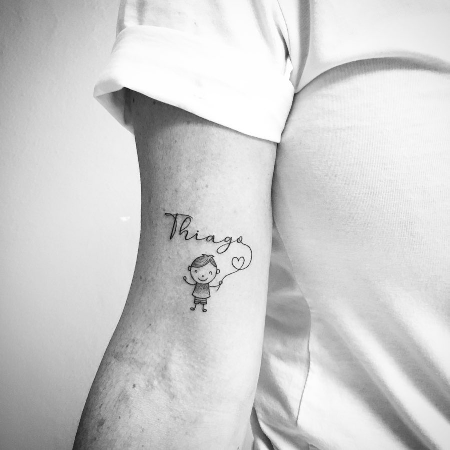 Baby tattoo on Arm (inner) by Haridian
