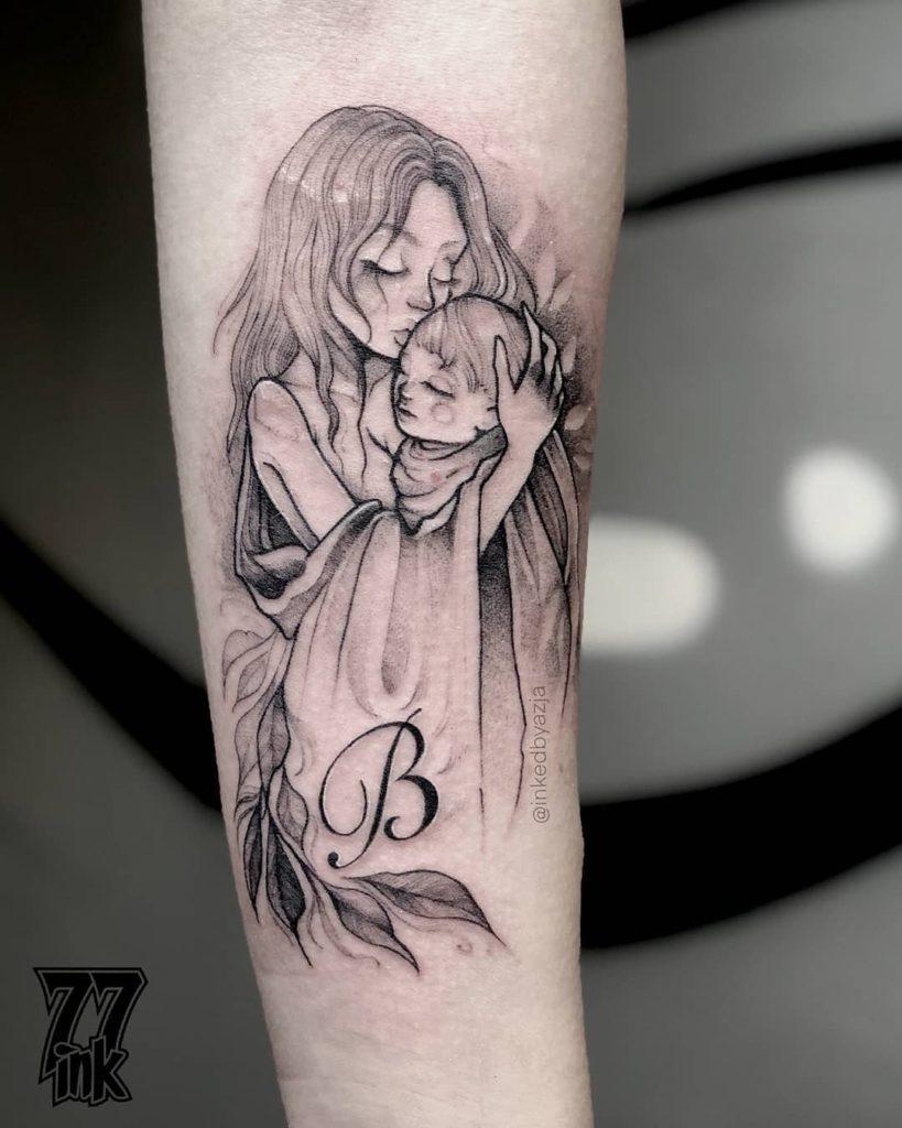 Mother tattoo on Forearm (inner) by Asia Azja Legoda