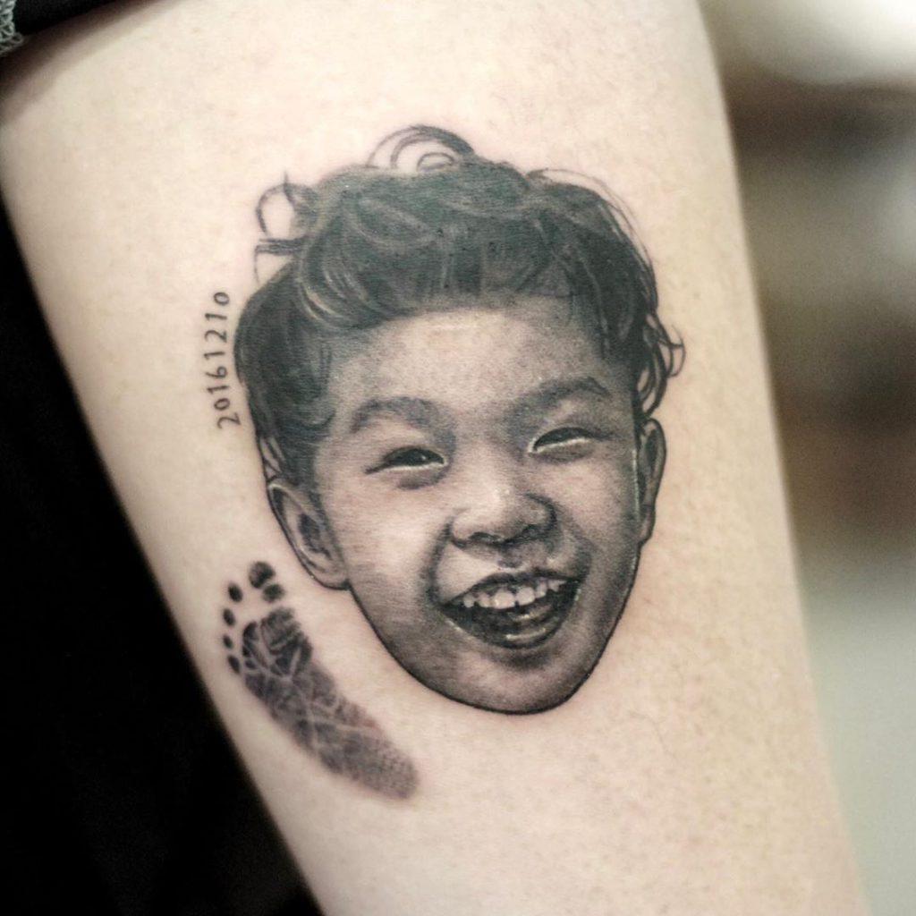 Baby tattoo by Kimta