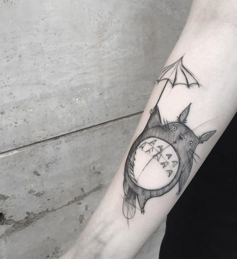 Anime tattoo on Forearm (inner) by Miriam