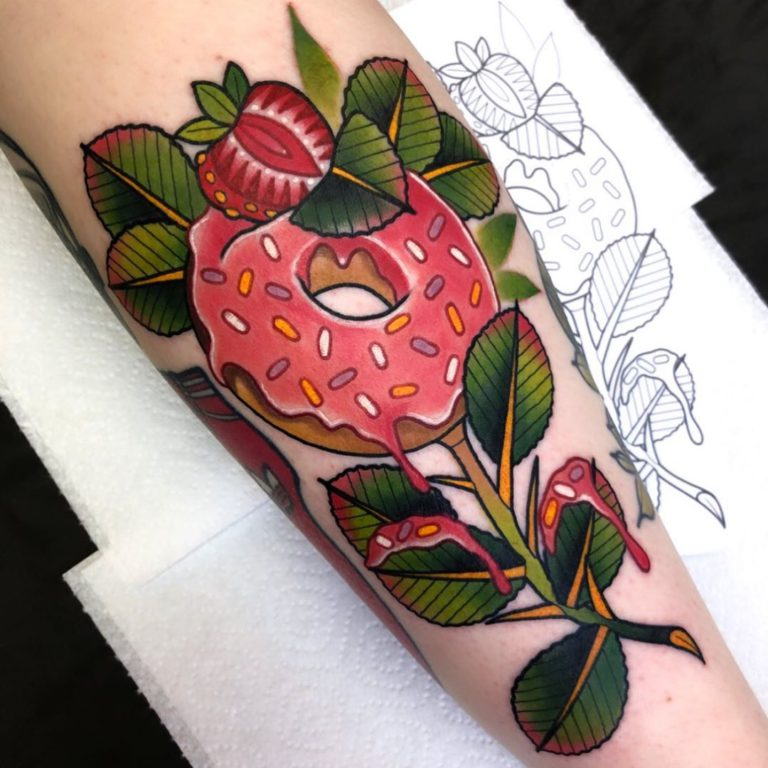 Doughnut tattoo on by Gibbo