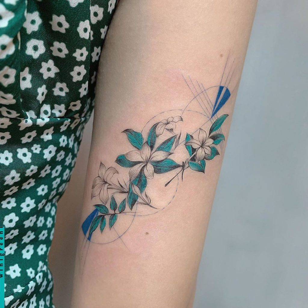 Jasmine tattoo on Arm by winigreeni