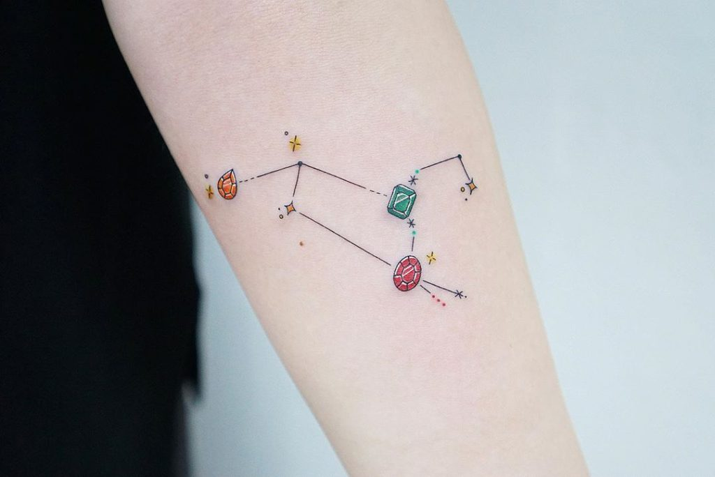 Leo tattoo on Forearm (back) - Fine Line style by Seyoon