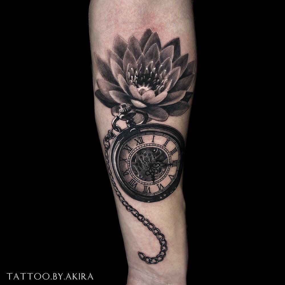 Lotus tattoo on Forearm (inner) by Marica AKIRA Poti