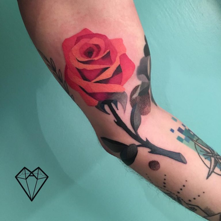 Rose tattoo by Anitta D'Andrea Tattoo