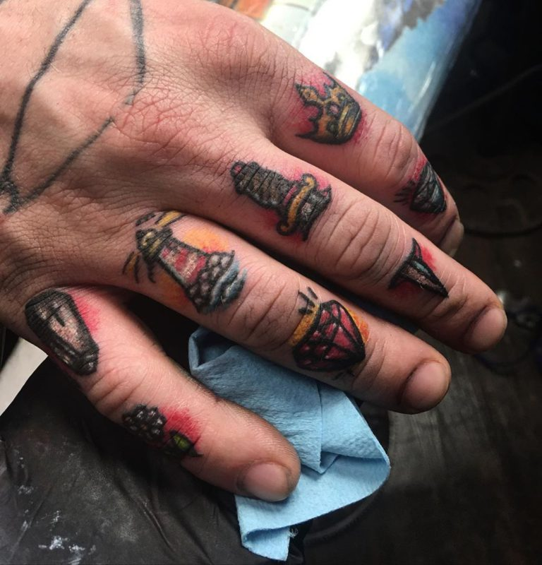 Tattoo on Finger by sydney bee
