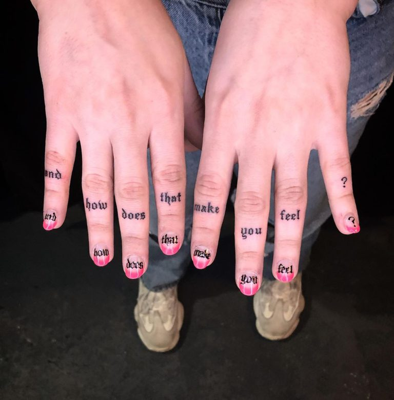 Tattoo on Finger by Leaf