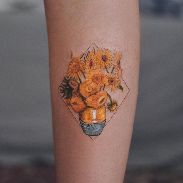 Van Gogh tattoo on Forearm (inner) by Marcela Badolatto